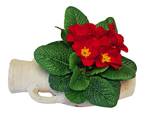 Pflanzgefäß Amphore liegend aus Terracotta Blumentopf Garten Deko 24x11x10 cm