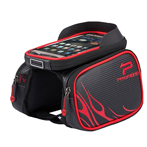 Fahrradtasche Rahmentaschen Handy-Halterung lenkertasche Oberrohrtasche Wasserabweisende Fahrradtasche -TAIYCYXGAN Rot