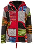 Michael Heinen - Bunte Patchwork Jacke | Damen | Traditionelle Nepal Jacke mit Patches | Wolljacke | Warmes Fleece Innenfutter | Multicolor Größe 2XL