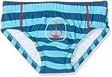 DIMO-TEX Sun Baby-Jungen Schwimmwindel WindelbadehoseUV-Schutz 50, Mehrfarbig (Navy/Aqua Gestreift), 80 (Herstellergröße: 74/80)