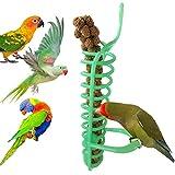 Yeshai3369Bird Spirale Feeder Parrot Nourriture Fruits Millet Support