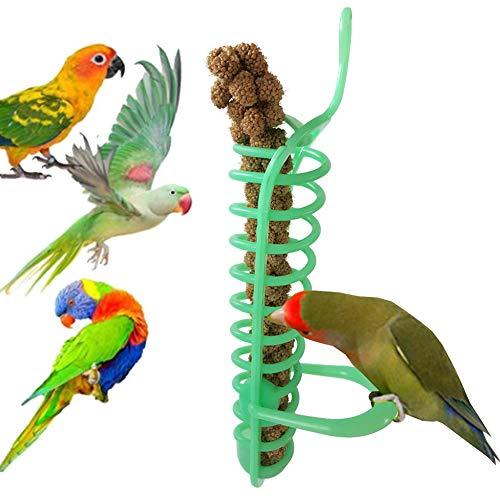KaariFirefly Mangiatoia per Uccelli Portatile a Spirale da Appendere Pet Parrot Food Basket Durevole per Frutta Climb Play Toy