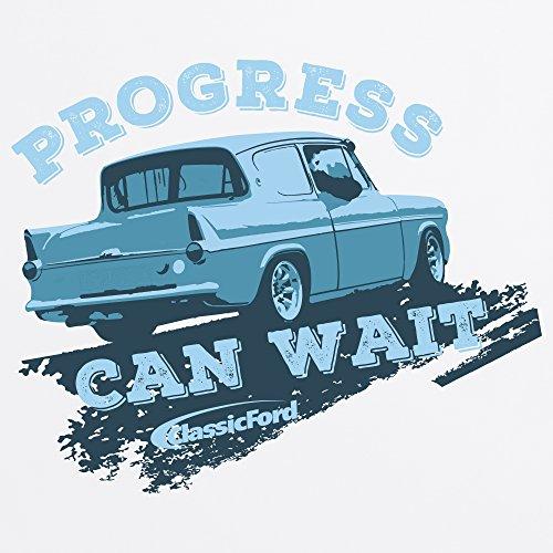 Classic Ford Progress Can Wait T-Shirt, Herren Wei