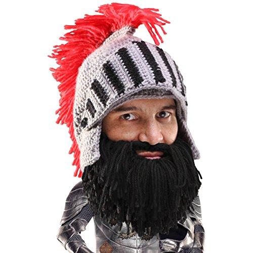 (Beard Head Bartmütze – Ritterhelm mit falschem Bart – Lustige Kopfbedeckung)