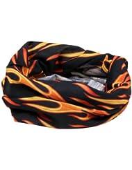 Ultrasport 1505-208-1 - Pañuelo de microfibra unisex, color negro / amarillo / naranja, talla única