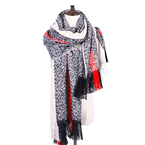 Cozy Scarf Grande Taille / Hiver Laine chaud Shawl / Lovers Mode Echarpe couleur multiple