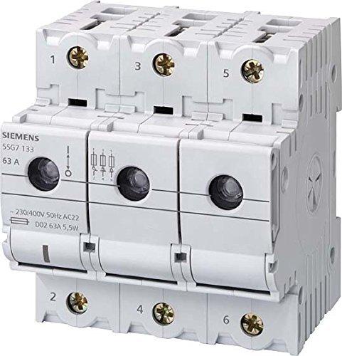 Siemens Indus.Sector Neozed-Lasttrennschalter 5SG7163 D02,3-pol.+N,T=70mm NEOZED-Sicherungslasttrennschalter 4001869319278 by Siemens Indus.Sector