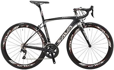 SAVADECK 700C Bicicleta de Carretera de Fibra de Carbono SHIMANO 5800 22-Velocidad Sistema de Transmisión/Frenado SHIMANO Sistema de Transmisión de Control HUTCHINSON 25C Neumáticos Fi'zi: k Cojín