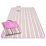Emarth Foldable Large Blanket Mat, Waterproof and Sandproof, for Picnic/ Beach/ Camping/ Hiking/ Backpacking/ Traveling (Pink)