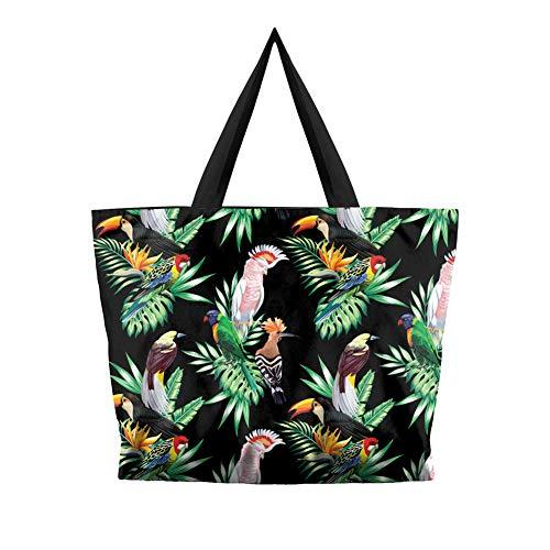 OOFAY Damenleinwand Tasche, Wiederverwendbare Öko-Tasche Hochleistungs-Handtasche Weihnachtseinkäufe Arbeit Täglichen Gebrauch Für Damen Schulter Reißverschluss Strandurlaub Tote