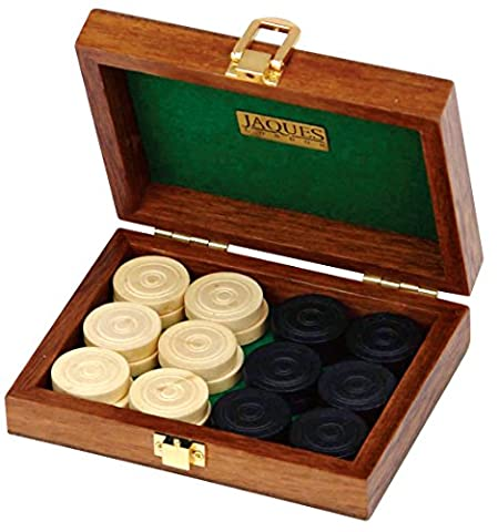 Draughts Set complete - Handmade Boxwood Pieces - Luxury Jaques