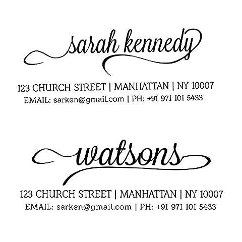 Kundenspezifische Familien-Adresse Stempel Personalisierte Stempel Selbst Ink Envelop Drucke Etikett Unterschrift