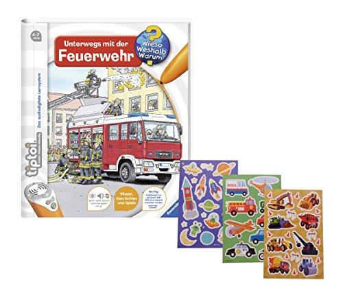 Ravensburger–tiptoi-Unterwegs-mit-der-Feuerwehr-Gratis-Kinder-Sticker