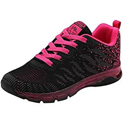 Solike Basket Mode Femme Fille Anti-dérapage Course Running Sneakers Lacets Fitness Gym Respirants Chaussures de Sport Outdoor Confortables Et Respirants