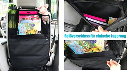 Termichy Auto-Rückenlehnenschutz Rückenlehnen-Tasche Trittschutz mit Rücksi
