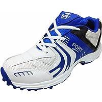 Port Men's White Cricket Shoes (5 UK)