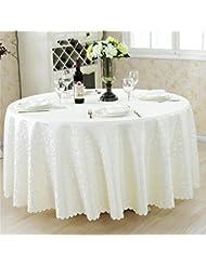 LILSN- Los manteles manteles mantel restaurante del hotel Continental redondas manteles de tela tela de mesa mantel redondo falda de cena casero ( Tamaño : 120*160cm )