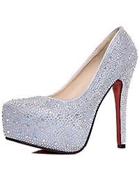 Kivors Femme Lady Escarpins Sexy Haute Talon Aiguilles Plateforme Bout Cheville Chaussure