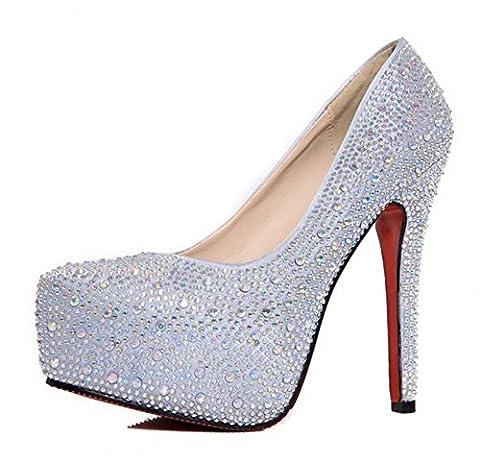 Chaussures Femme Soiree - Kivors Femme Lady Escarpins Sexy Haute Talon