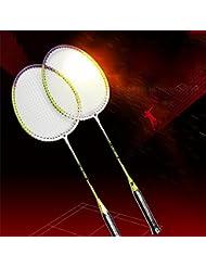 Moppi Deportes de raqueta de bádminton estilo defensivo de fibra de carbono de la raqueta de potencia