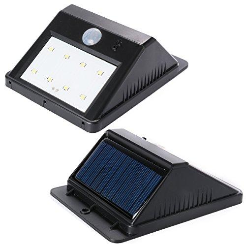 8 LED Lampade da parete Solare Pannello Impermeabile Motion Sensore Giardino Parete Luce Light LD454