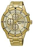 Seiko Herren Chronograph Quarz Uhr mit Edelstahl Armband SKS566P1