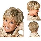 Tonake 0081 Stylish New Blonde Short Slight Wavy Hair Wig Heat Resistant for Women Lady