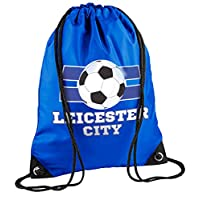 laylawson Kids Kids Football City League Gymsac Boys Girls School Shoe Swimming Drawstring Bag (One Size, Leicester City)