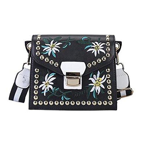 YouPue Damen Handtaschen Shopper Ledertaschen Umhängetasche Schultertasche Weiblichen Beutel Handtaschen Für Frauen Handtasche Schwarz