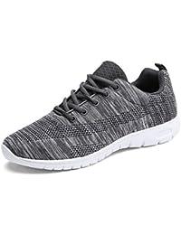 6b4f16527 Zapatillas de Deporte Hombres Zapatos de Gimnasia para Caminar de Peso  Ligero Zapatillas de Deporte Zapatos