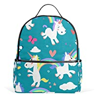 COOSUN Ponis Unicorn Pattern School Backpacks Bookbags for Boys Girls Teens Kids