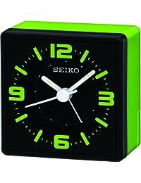 Seiko QHE091M - Reloj despertador de mesa (analógico), color verde