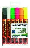 Molotow One4All 227HS Acryl Marker (Neon Set, 4mm Spitze, hochdeckend und permanent, UV-beständig) 6 Stück sortiert