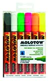 Molotow MO200166 Acryl Marker One4All 227HS, Etui Neon-Set, 4 mm, 6 Stück
