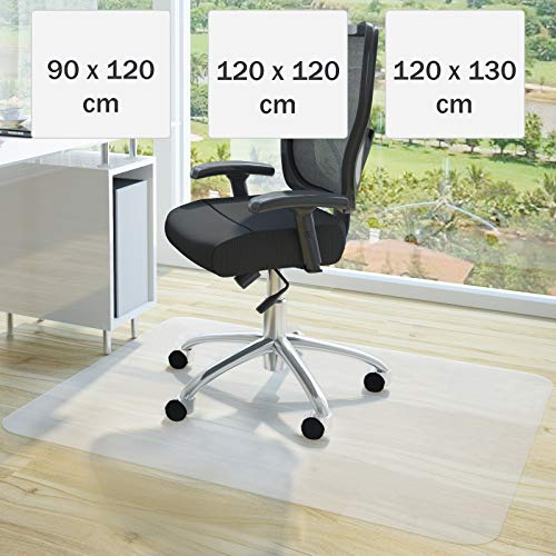 Jago Bodenschutzmatte 120x120cm | Größenwahl, Weiß für Laminat, Parkett, Fliesen und Hartböden | Bodenmatte, Bodenschutz, Bürostuhlunterlage, Unterlegmatte, Schutzmatte