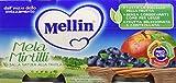 Mellin Omogeneizzato Mela Mirtillo - 24 Vasetti da 100 gr