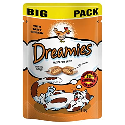 Dreamies Cat Treats Chicken 110g (Pack of 8)