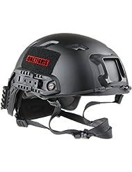 Casco de protección SWAT OneTigris BJ tipo ligero rápido para Airsoft Paintball, negro