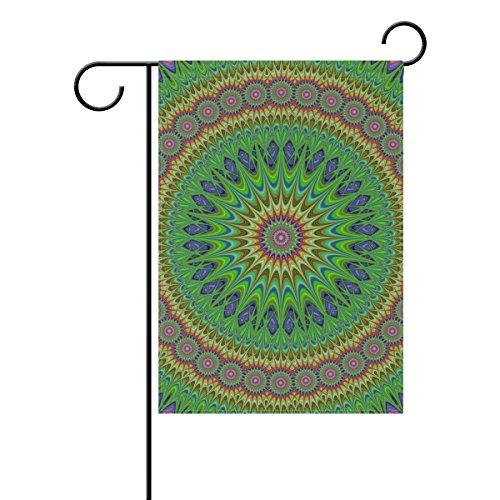 MUMIMI Bandera de Jardín Colorida Mandala DE 30 x 45 cm, Decoración de Dos Caras, poliéster Outddor Bandera, Multicolor, 28x40(in)