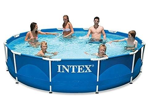 Intex 12–28236Métal Kit piscine Frame 457x 122cm,