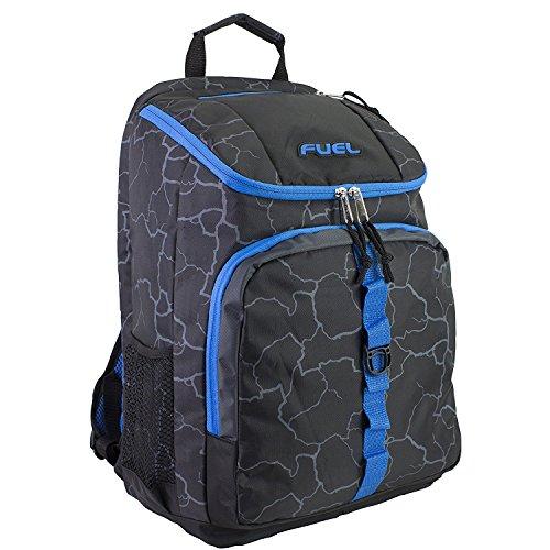 Imagen de fuel  de cargador superior con compartimiento para portátil,  de senderismo,  deportiva,  escolar,  de viaje  azul eléctrico
