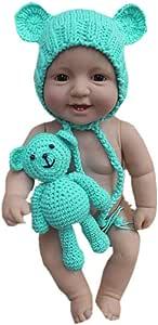 Amuster Bonnet de bébé en Tricot Stretch pour Nouveau-né + Pantalon Costume Photographie Requisite