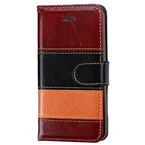 MyBat Male MyJacket Wallet for iPhone 5s - Retail Packaging - Reddish Brown/Black/Light Brown