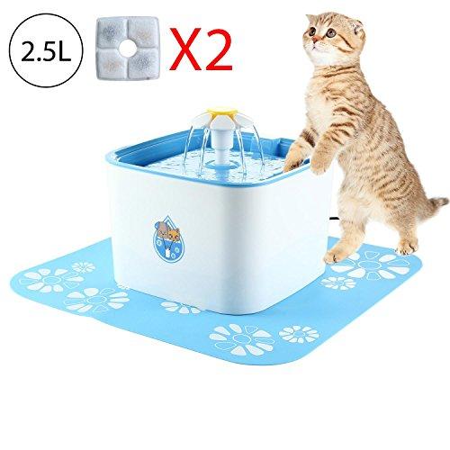 Leegoal Trinkbrunnen für Katzen Hunde Haustier Blumentrinkbrunnen Trinkbrunnen Elektrischer Gesunde Haustier Trinkfontäne Wasserspender für Hunde und Katzen mit 2 Aktivkohlefilter (2.5L Trinkbrunnen)