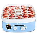 Secadora de alimentos, termostato ajustable de 40-75 ° C, 5 bandejas apilables de frutas y verduras, perfectas para crear aperitivos saludables