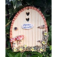Fairy door, ceramic, fairy garden fairies welcome sign.
