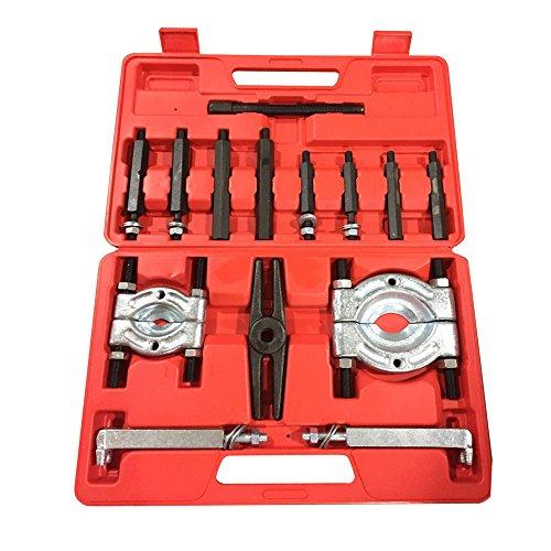 Hub Puller Set (Modellierwerkzeug für Bearing Separator Puller Set mit 5,1cm und 7,6cm Splitter entfernen Kugellager Backen Tool Kit Schwarz Heavy Duty)