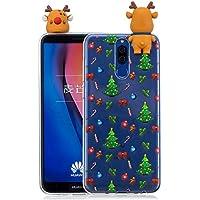 Everainy Huawei Mate 10 Lite Silikon Hülle 3D Weihnachts dünn Durchsichtig Hüllen Handyhülle Gummi Huawei Mate... preisvergleich bei billige-tabletten.eu