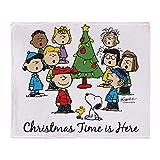 YISUMEI Decke 80x120 cm Kuscheldecken Sanft Flanell Weich Fleecedecke Bettüberwurf The Peanuts Gang: Weihnachten ist da