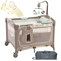 MamaKids Travel Cot Portable play yard Multi Dots Bed